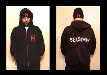 Mr.Hyde - Brand New Zip Up Hoodie Front & Back Designs (Machine Gun H/Beastman Logos) - $39.99