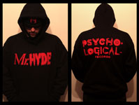 Mr. Hyde - Psycho Logical Records Vintage Red Logo on Black Hooded Sweatshirt - $39.99