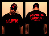 Mr. Hyde - Psycho Logical Records Vintage Red Logo on Black Shirt - $19.99
